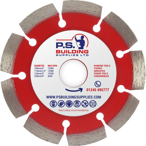 Professional Diamond Blade for Concrete 115mm x 22.23mm - PR25